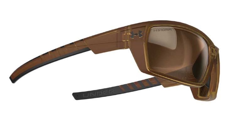 Shop Under Armour Ranger Sunglasses - Satin Crystal Brown / Black Rubber / Brown Polarized Storm - Buy Sunglasses Online at Sunglass Garage - Free USA Shipping