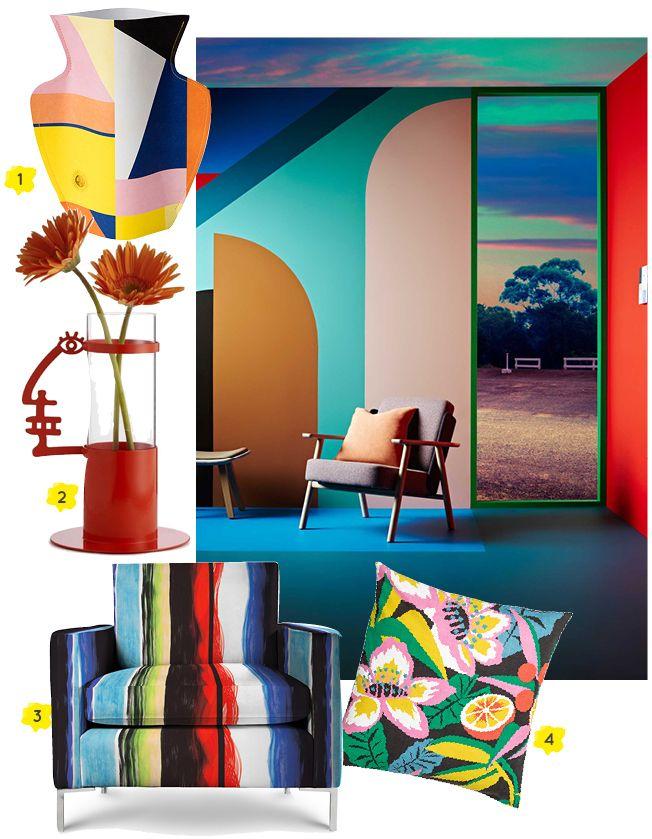 Panik's Profile Vase by Andrea Branzi for Design Memorabilia featured in Lucy Gough Interior Stylist's blog