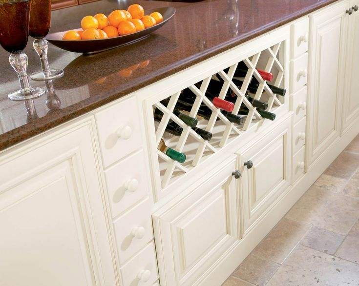 Waypoint Island Wine Rack Shown In Maple Butterscotch Glaze