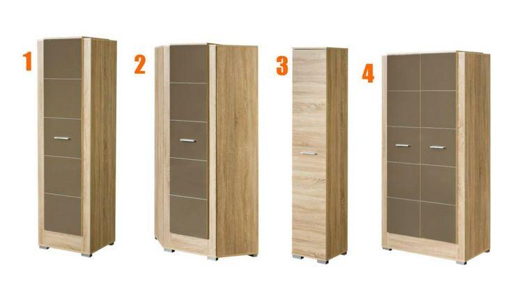 Návrháři nezapomněli ani na velké skříně. Ti, kteří zařizují malou ložnici určitě popřemýšlí nad rohovou skříní (č. 2). Na relativně malém místě totiž nabízí dostatek úložného prostoru a efektivně využívá roh místnosti, který je někdy těžké správně využít. 1 - http://goo.gl/YjAjfS 2 - http://goo.gl/lu8kzm 3 - http://goo.gl/KJX8u4 4 - http://goo.gl/PLXZmW