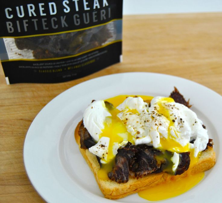 The Poacher's Breakfast- 1) Toast your bread of choice 2) Give Cured Steak a rough chop 3) Poach an egg (or two) 4) Build, Spice and Muddle