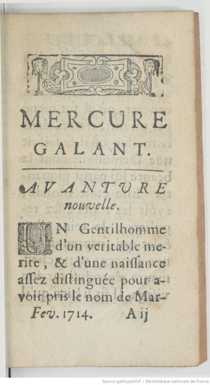 Mercure Galant, first fashion magazine