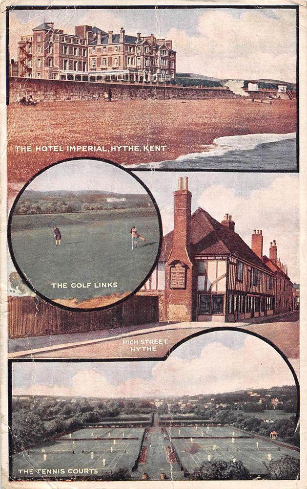 Hythe ,Kent multiviews golf ,tennis , Hotel Imperial