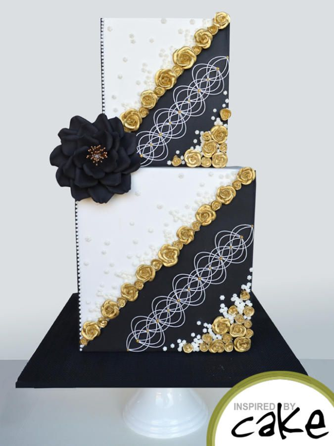 Piped RI roses painted gold with little