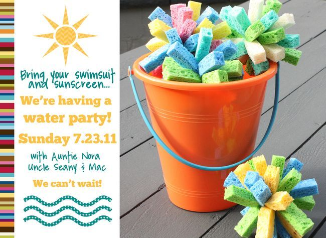 Water Party--have sponge balls, water balloons, sprinklers, etc.