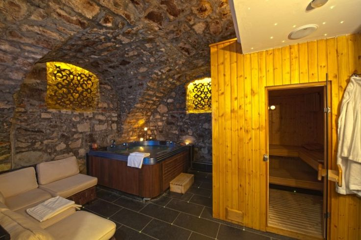 House, Simple Sauna Design Dimension Ideas In Basement With Stone Decoration And Awesome Lighting Decor: How to Make a Sauna At Home