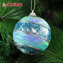 2016 Luxury Christmas Ornaments Wholesale-Christmas tree decoration 8cm blue quality luxury foam christmas ball Supplies hanging new year santa claus cristmas natal Luxury Christmas Ornaments clearance