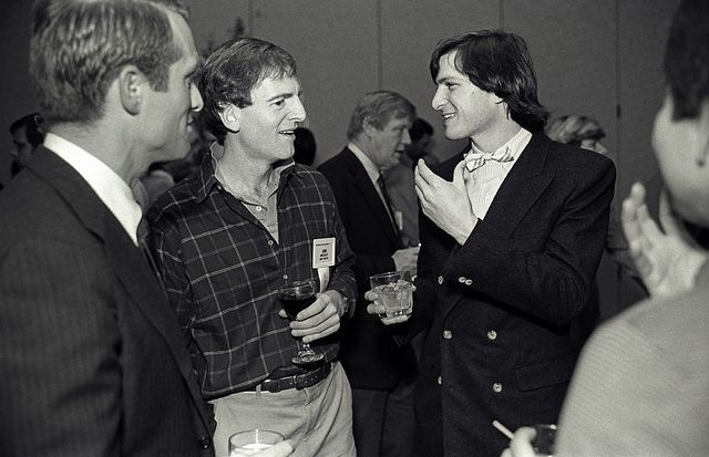 John Sculley and Steve Jobs