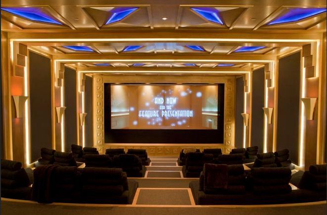 Luxury. Pure luxury. What a theater room!!! | It's All ...