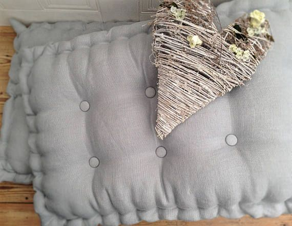 Handmade Linen Seat Pad Cushion Made To Measure Tufted Soft Furnishings Cushions Seat Pads Pillow Styling