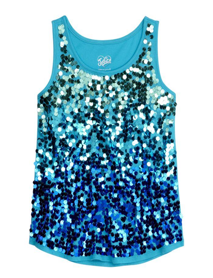 Girls Clothing   Tanks & Bandeaus   Sequin Embellished Tank   Shop Justice