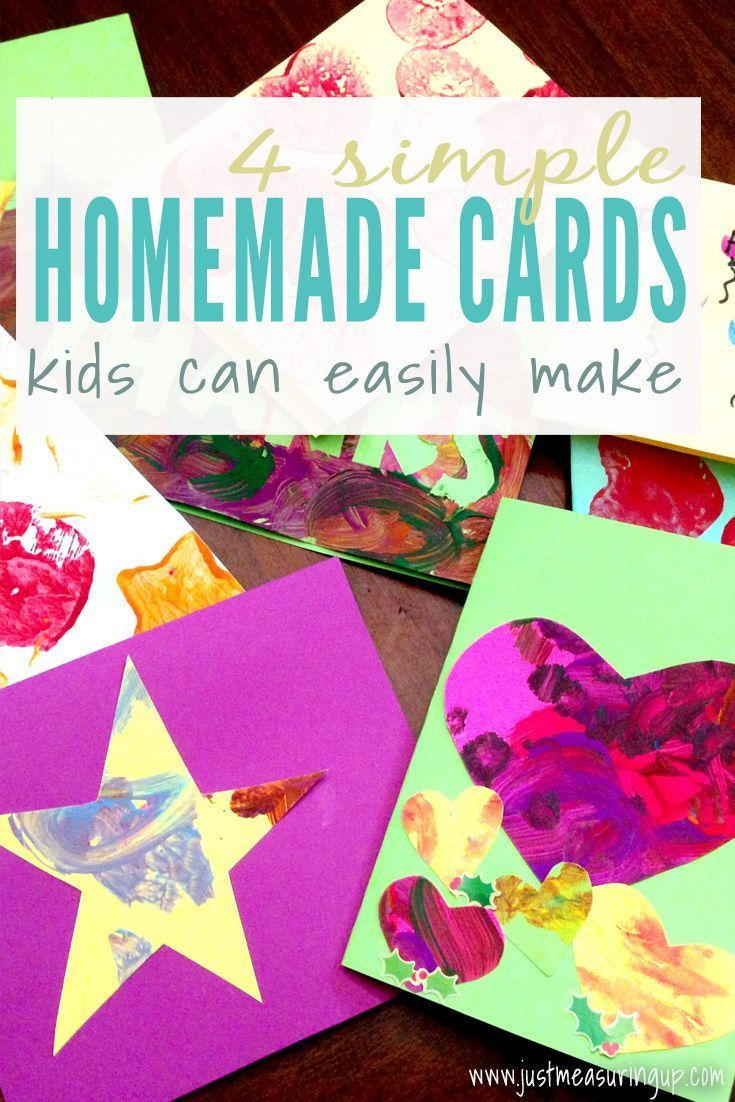 Four Simple Cards Kids Can Make Thank You Card Design Thank You