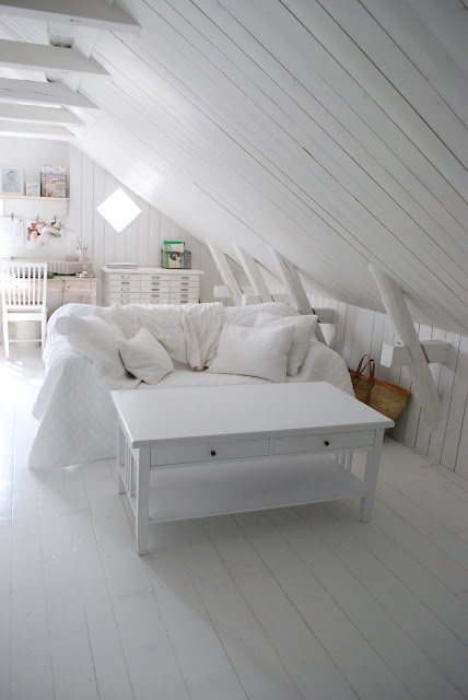 Get cosy in a white loft conversion