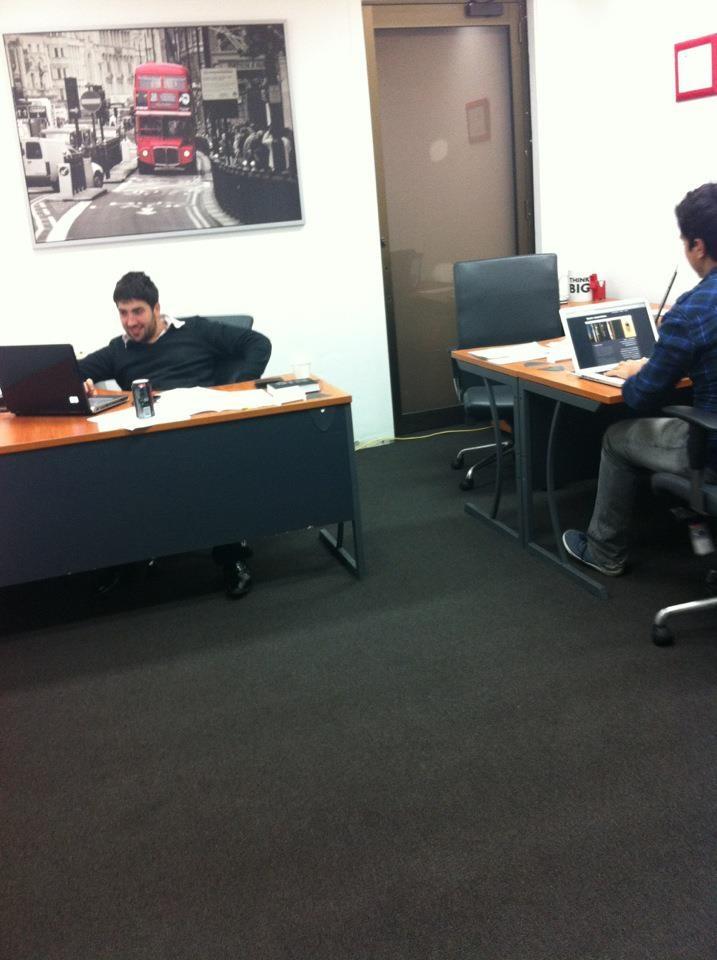 The boys hard at work!
