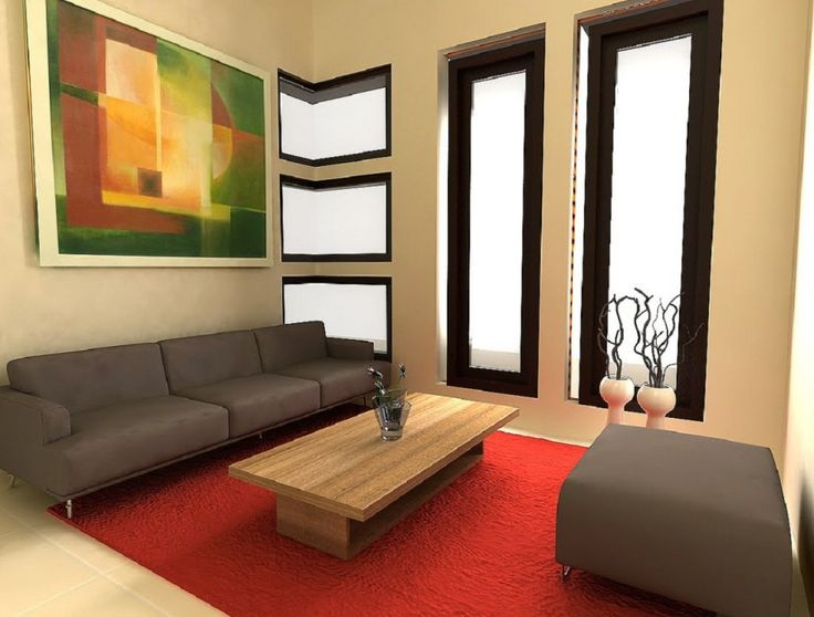 Interior Reasons Why Japanese Interior Design is Popular: Amazing Japanese Contemporary Living Room  Living Rooms Sky Designs With Trendy Furniture Interior And Red Colors Rug Also Dark Couch And Pouffe And Wooden Coffee Table And Laminate Flooring Painting