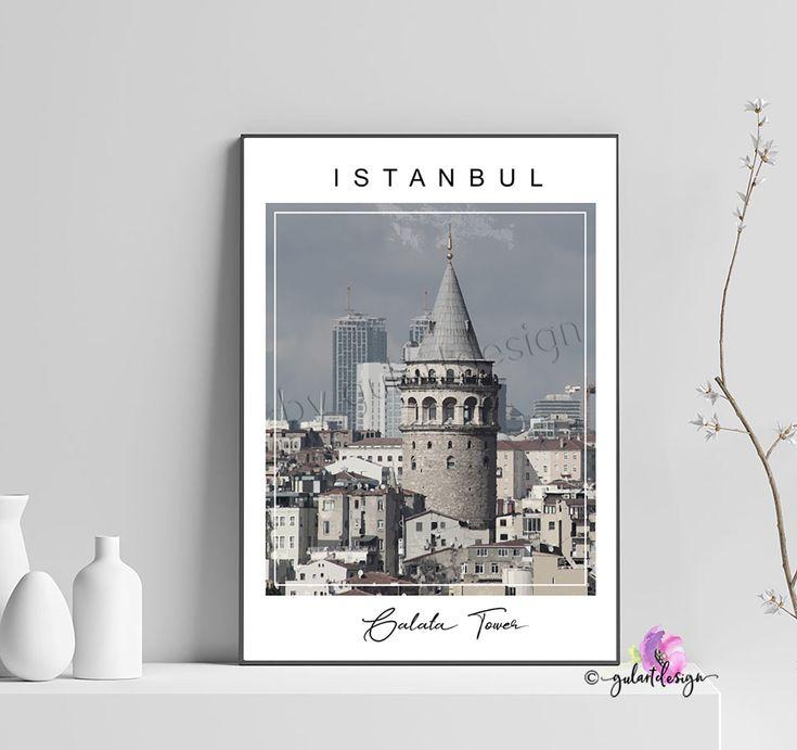 Istanbul, Galta tower, galata kulesi, turkey, Türkiye, Türkei, Poster, interiordesign, islamic decor, islamic wallart, islamicquotes, islam