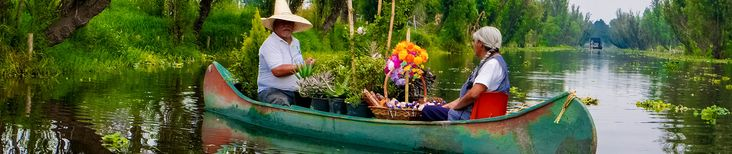Xochimilco, meaning the 'Place of the Flowers' in Náhuatl, is famous for its waterways surrounding the ancient city of Tenochtitlan - which is now modern d