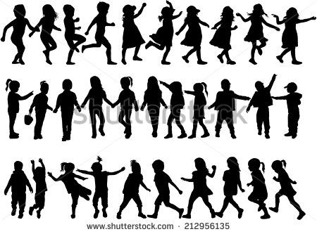 Children Silhouettes Free vector in Encapsulated PostScript eps ( .eps ) format, Open office drawing svg ( .svg ) format format for free download 2.71MB