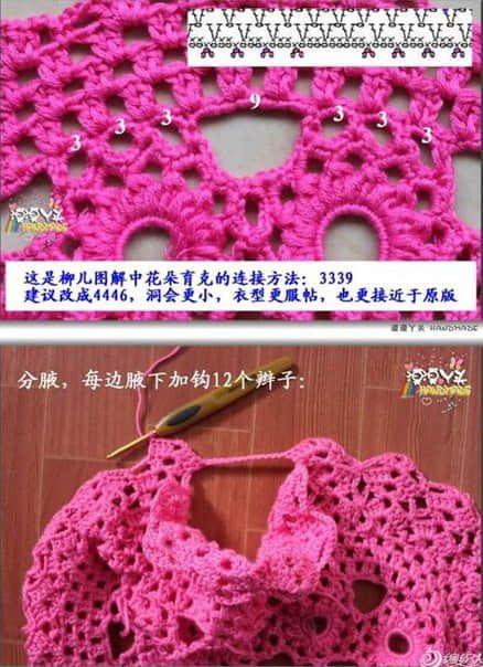 Patron para hacer un vestido a crochet para niña01