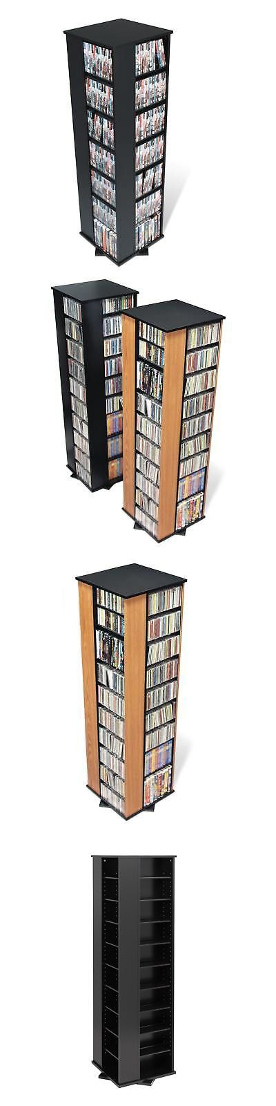CD and Video Racks 22653: Large 4-Sided Spinning Media Tower -> BUY IT NOW ONLY: $199.49 on eBay!