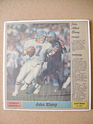 1985 Californian Newspaper Poster John Elway Denver Broncos Stanford University
