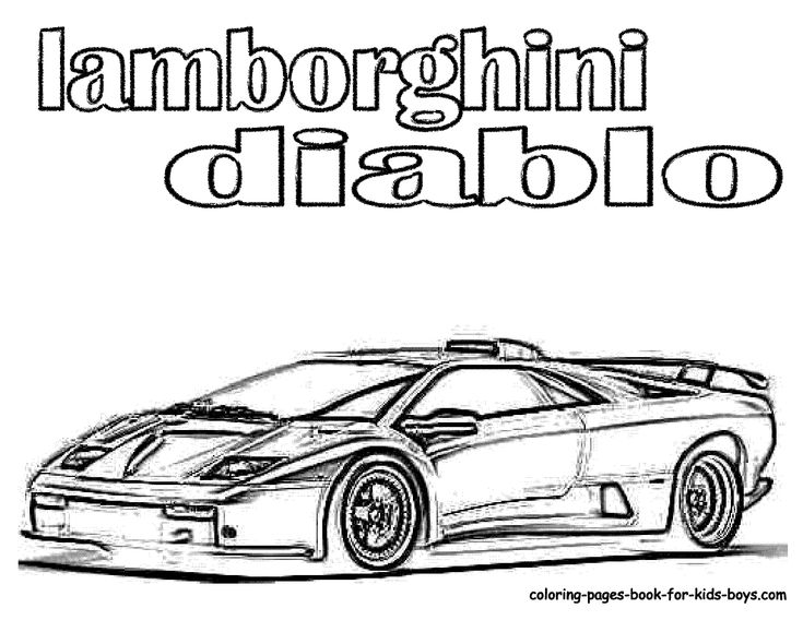 8 best coloring pages images on Pinterest Coloring books, Coloring - best of coloring pages of a sports car