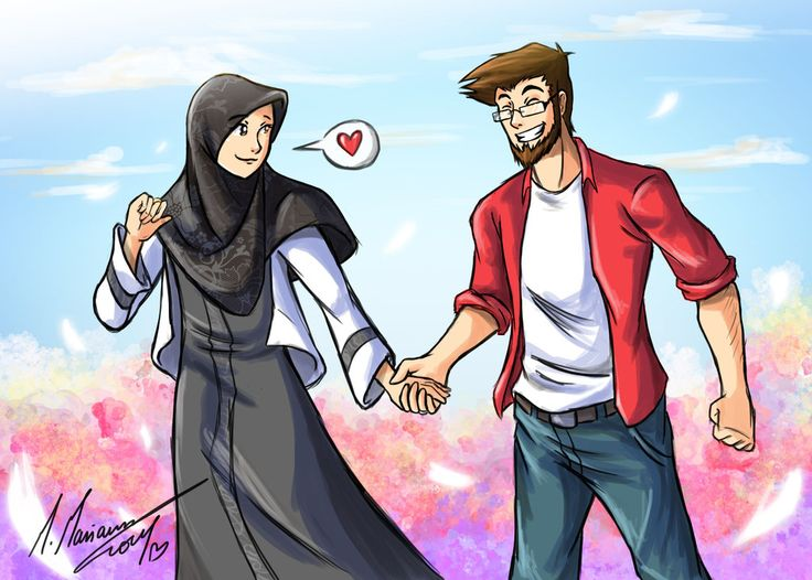islamic couple anime