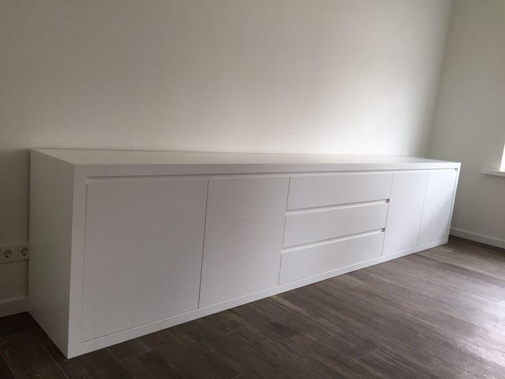 XXL Dressoir 4 meter lang mat wit