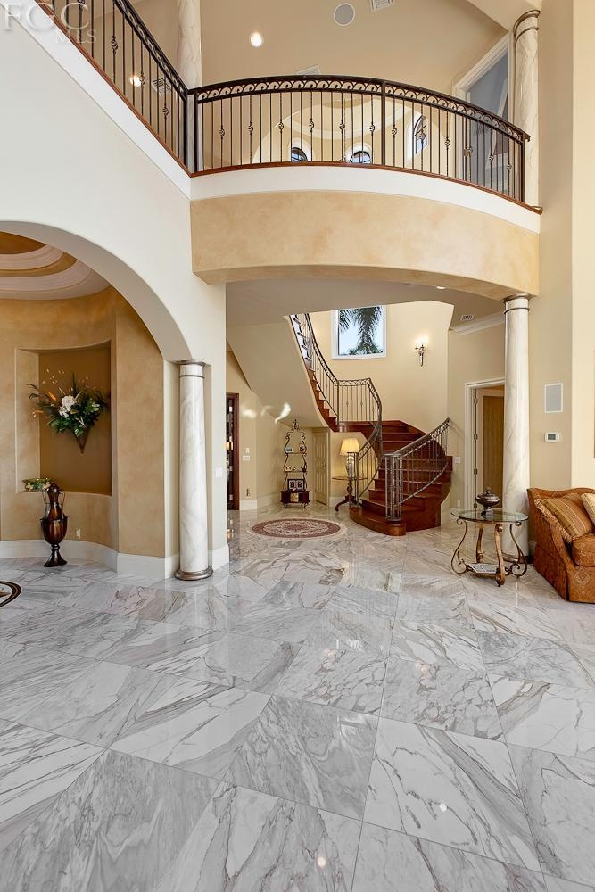 Love the open balcony, and the marble floors for a Florida