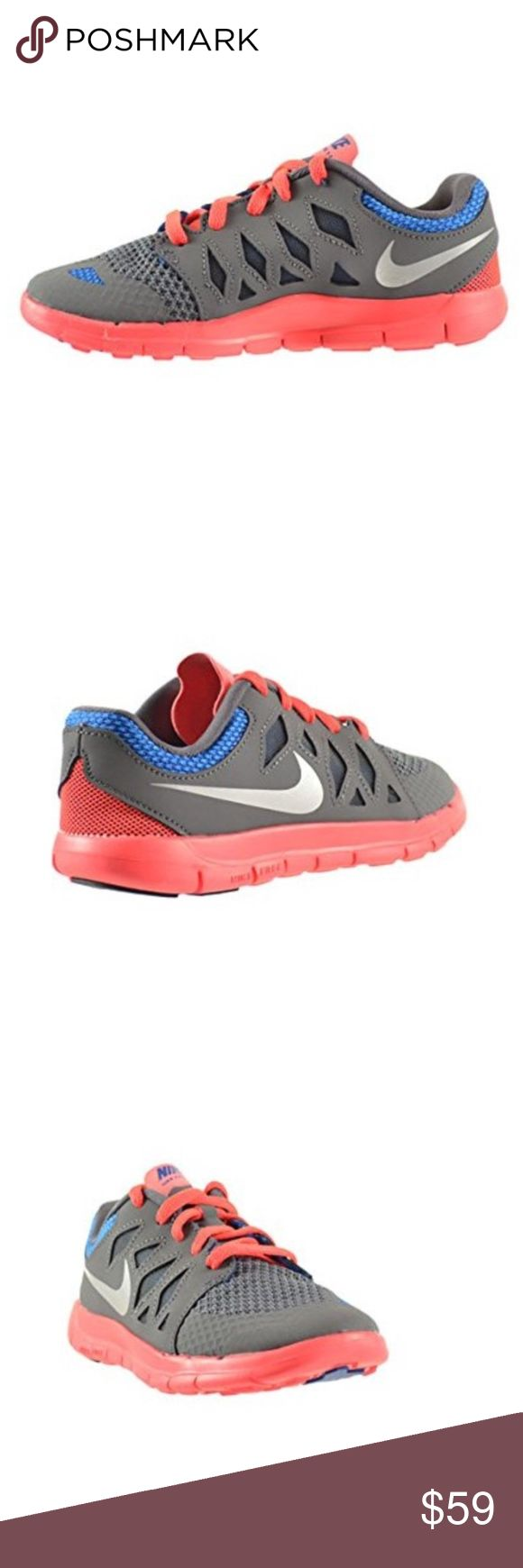 Nike Free 5 (PS) Little Kids Shoes Dark Grey/Metal Nike Free 5 (PS) Little Kids Shoes Dark Grey/Metallic Silver-Laser Crimson 644431-002  (USA) Size: 1Y   Brand New without box - Never worn Nike Shoes Sneakers