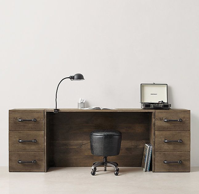 Wylie Wide Storage Desk Set
