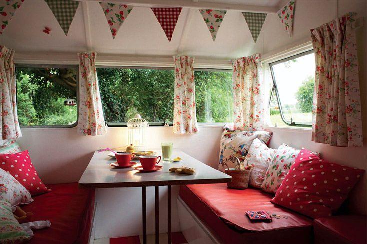 inside cute little camper