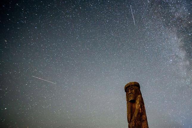 Todo sucede en la región que ocupa en el cielo la constelación de Perseo, por eso se conocen también como Perseidas. Foto: AFP
