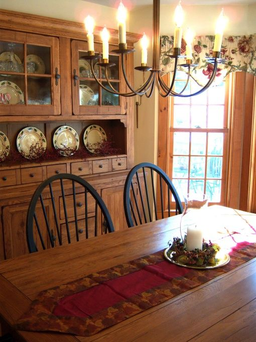 Best 25 primitive wallpaper ideas on pinterest country kitchen renovation kitchen wallpaper - Country dining room pictures ...