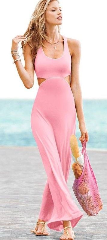 pink dress long ❤ Pinned by Cindy Vermeulen. Please check out my other 'sexy' boards. X
