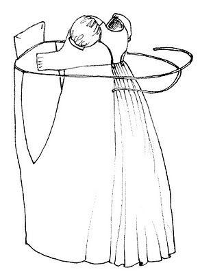 Regency Kleid, how a gown fastens together
