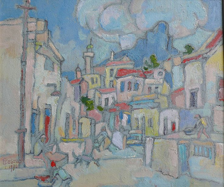 Boonzaier, Gregoire | District Six | Oil on Board | Size : 285 x 340mm | Code : 9524