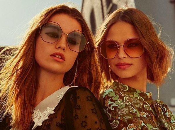 """acb9e7212199 Chloe s iconic """"Poppy"""" sunglasses combine delicate details with an 80 s  vibe for a modern"""