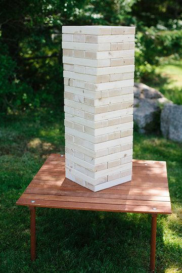 Photo by Summer Street Photography.  Jenga provided by Take Off Events.