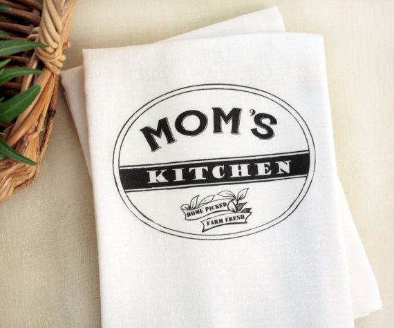 Custom Mom's Kitchen Tea Towel Personalize Kitchen by AppleWhite, $10.00