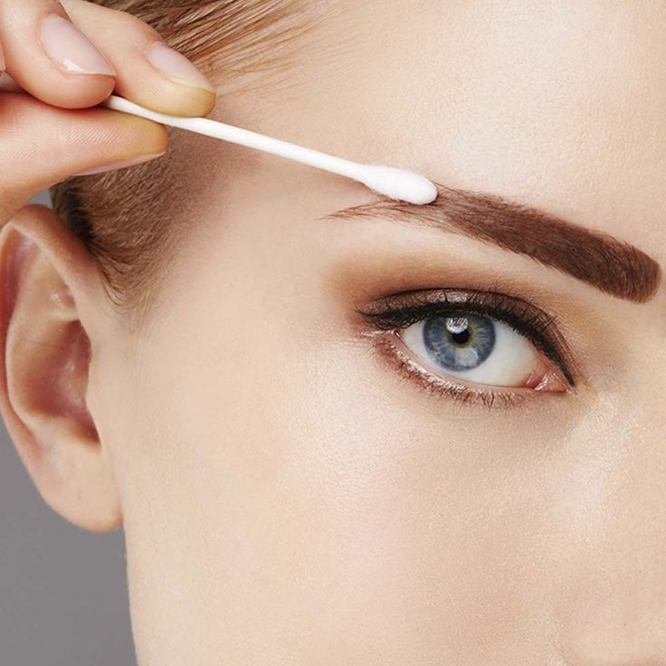 Get salon brows at home in 3 easy steps apply set peel for Tattoo eyebrow tint