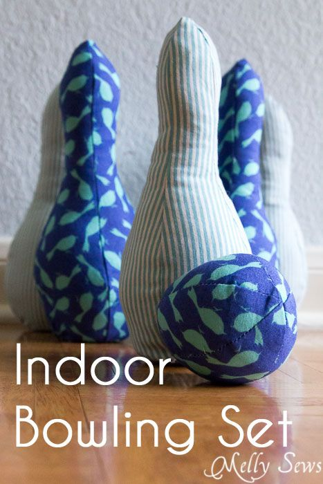 Indoor Bowling Set - Pattern by Sew Like My Mom, sewn by http://mellysews.com