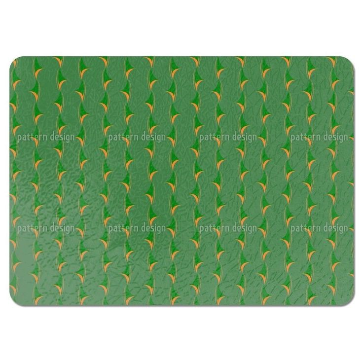 Uneekee Thorny Green Placemats (Set of 4) (Thorny Green Placemat) (Polyester, Floral)