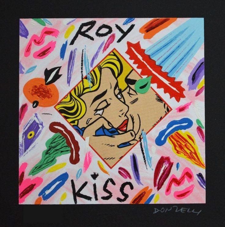 DONZELLI BRUNO – Roy kiss - Serigrafia polimaterica 25 x 25 cm Sfondo Nero
