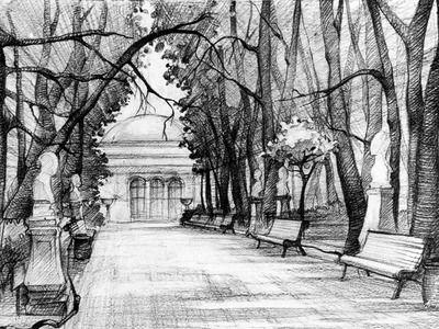 Рисунок летний сад санкт-петербург находит