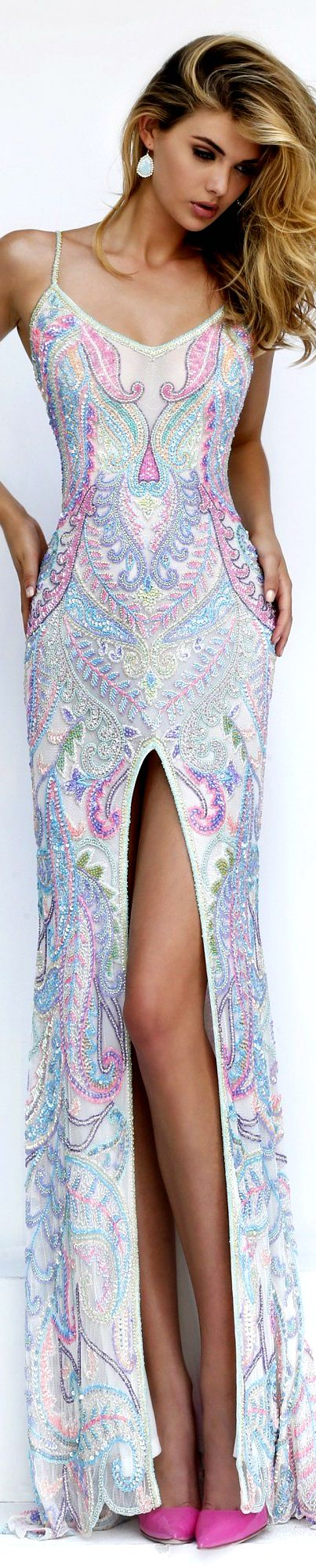 Sherri Hill women fashion outfit clothing style apparel @roressclothes closet ideas