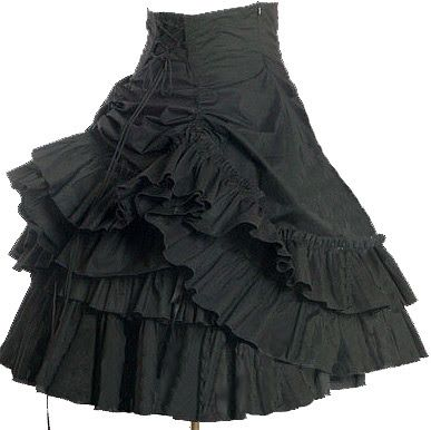"""i love that this is called the """"gothic dolly bustle mini skirt"""".  good name."""