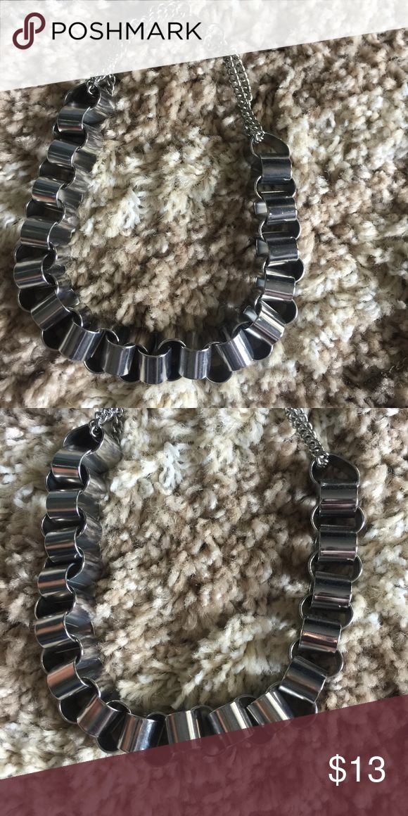 NWOT- silver stacked choker Chunky silver necklace Jewelry Necklaces