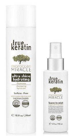 True Keratin Moroccan Miracle - Zestaw Szampon i Keratynowa Ochronna Odżywka w  Sprayu (UV,chlor,sól) http://www.pieknewlosyonline.pl/pl/c/TRUE-KERATIN/170/1/full