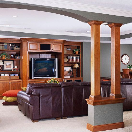 10 basement remodeling tips activities home and columns for Family room columns